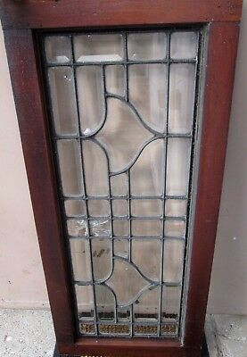 Substantial Antique Arts & Crafts All Beveled Glass Window # 588