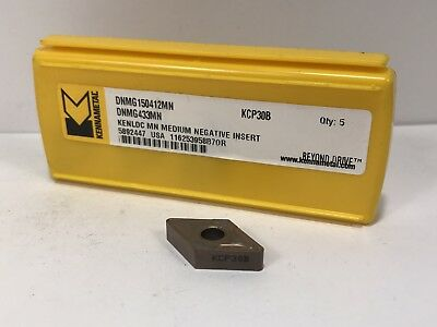 ** SALE ** DNMG 433 FN KCP10B KENNAMETAL ** 5 INSERTS *** FACTORY PACK ***