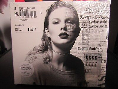 taylor swift reputation cd brand new sealed