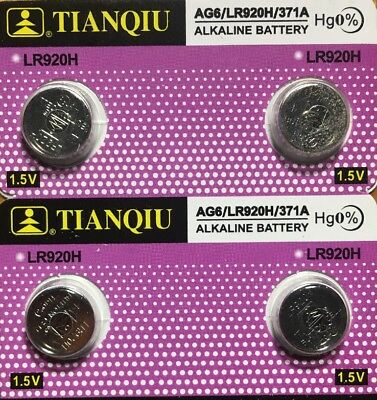 2-AG6 (4 Qt.) Tianqiu  371/370 LR920 LR69 SR921 Authorized Seller. Exp 2021.