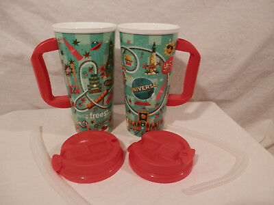 Whirley Drink Cup Universal Studios Coca Cola Freestyle Travel cup PAIR 2 cups