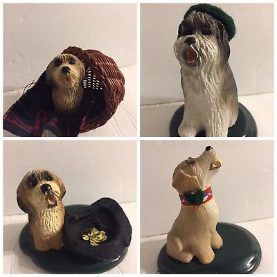 4 Byers' Choice THE CAROLERS DOG'S SERIES FROM 1992~1996 ~1998