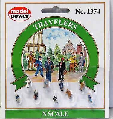 MODEL POWER N scale TRAVELERS 9 pieces No.1374 New on card