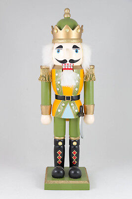 Vintage Nutcracker Toy Soldier Holiday Christmas Decor Wooden 14 inch Figure