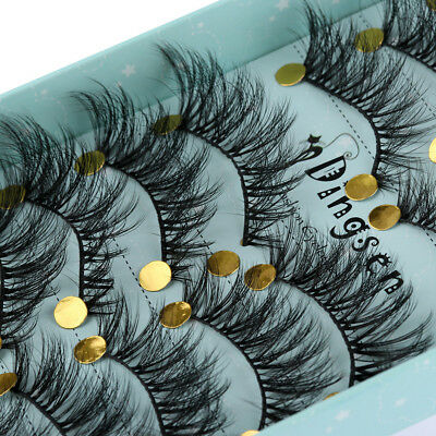10 Pairs 3D Fluffy Soft Faux Mink Hair False Eyelashes Thick Long Lashes Makeup