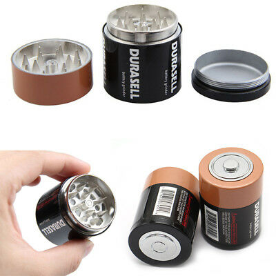 3 Layer Battery Tobacco Grinder Herbal Herb Smoke Spice Crusher Hand Muller