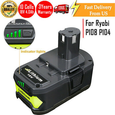 4.0Ah 18 VOLT P108 for 18V RYOBI ONE PLUS Lithium-Ion High Capacity Battery NEW