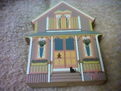 "1999 The Cat's Meow ""Gingerbread Cottage Series-Oops Cottage"" Martha's Vineyard"