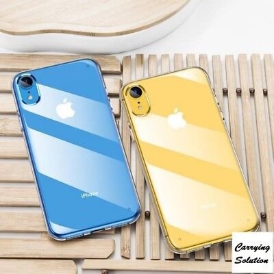 """For iPhone XR 6.1"""" Clear Transparent Case Shock Absorption TPU Bumpers Cover"""