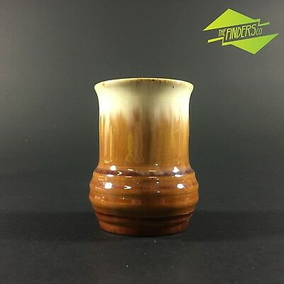 Vintage Australian Later Series Remued #32 Brown Drip Glaze Pottery Vase