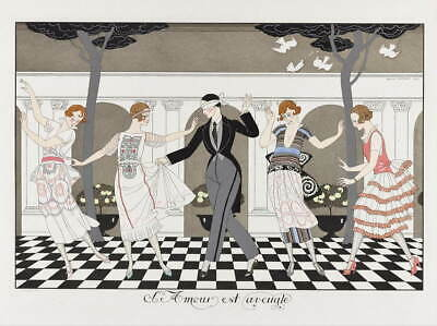 George Barbier The Madness of the Day Giclee Canvas Print Paintings Poster