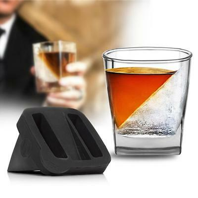 2Pcs/Set Whiskey Wedge - Iced Whisky Glass Vodka Cup Mug With Silicone Ice Mould
