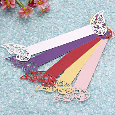 10/50x Butterfly Laser Napkin Rings Cut Paper Holders Wedding Party Favors Decor
