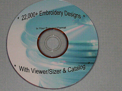 DST Embroidery Designs - Over 22,000 Designs on DVD/2CDs/USB - Some Tajima Mach.