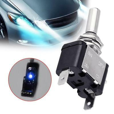 1PC DC 12V 20A Blue LED Light Toggle Rocker Switch Control ON/OFF Car Boat ATV