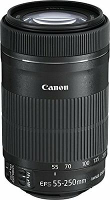 Canon Telephoto zoom lens EF-S55-250 mm F4-5.6 IS STM APS-C compatible EF-S55-25