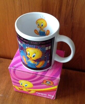 "Looney Tunes Ceramic Mug / Tea Cup ""World's Greatest Mom Ever!"" Tweety Bird NIB"