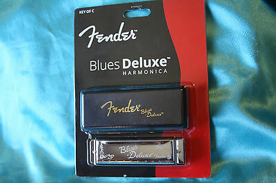 Fender Blues Deluxe Harmonica, Key of C, with Carrying Case, MPN 0990701001