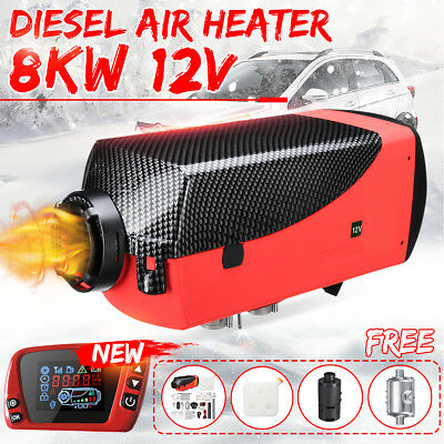 8KW 12V Diesel Air Heater Limited Edition LCD Thermostat 8000W F/ Truck Boat Car
