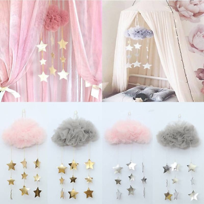 Cute Clouds and Stars Children Room Decorations Baby Bed Decorations