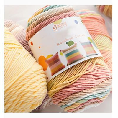100g Soft Cotton Hand Knitting Crochet Thread Yarn Craft Tatting Knit Embroidery