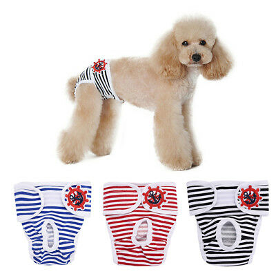Female Pet Dog Cat Puppy Diaper Pants Physiological Sanitary Short Panty S-2XL