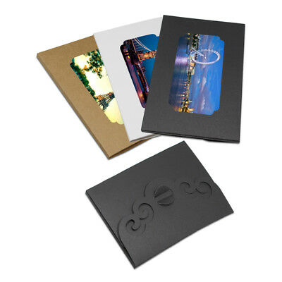 Colorful Hollow Out Postcards Boxes Christmas gifts Picture Packing Box Envelope