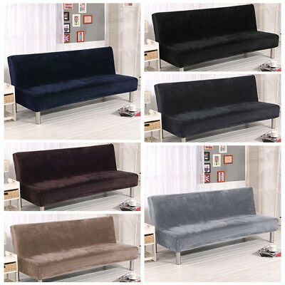Folding Armless Sofa Futon Cover Furniture Seater Protector Couch Slipcovers