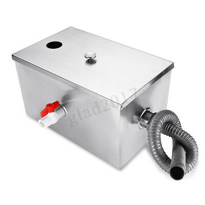 Grease Trap Stainless Steel Interceptor Waste Filter Fat Traps Restaurant Size