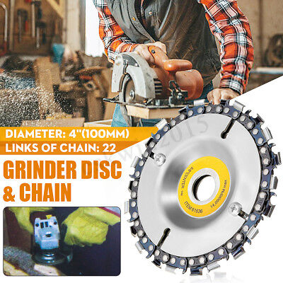 "4 Inch Angle Grinder Disc Tooth Chain Saw For Carving 4"" or 4-1/2"" Angle Grinder"