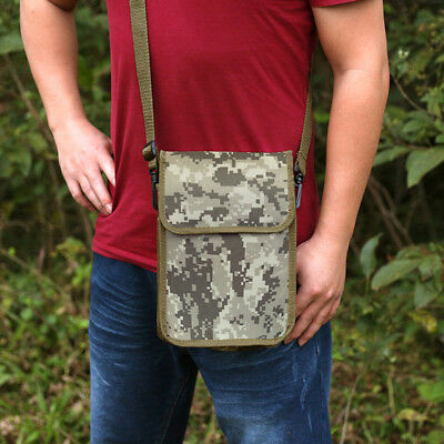 """Metal Detector Camo Finds Bag Pouch 43"""" Crossbody Belt for Metal Detecting"""
