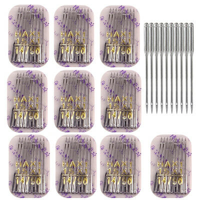 UK 100pcs Threading Singer Sewing Machine Needles For Domestic Home Household JO