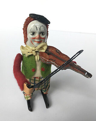 Schuco Tanzfigur - Clown mit Geige - made in Germany, Solisto