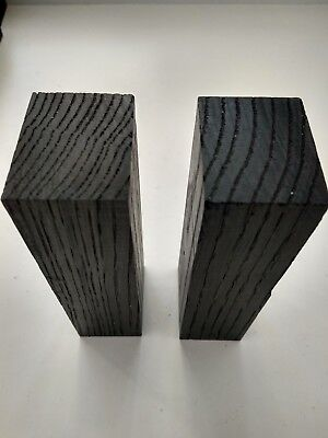 2pcs. lot black bog oak (morta wood) blanks for knife handles 30*40*120