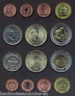 6 PIECE UNC COIN SET 0.01 TO 1 PISO PHILIPPINES