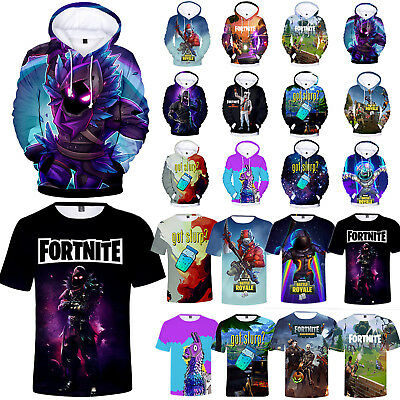 Fortnite Royale XBOX Gaming 3D T-Shirt Hoodie Pullover Mens Boys Casual Tops