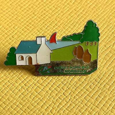 Pin's Bretagne - Banque Credit Agricole Morbihan Bretagne - Vintage French Pins