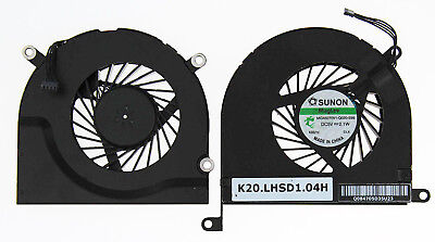"""Apple Macbook Pro 17"""" A1297 Unibody Left + Right Set Of Cooling Fans B71+B72"""