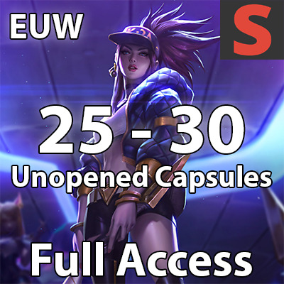 League of Legends LoL Smurf Account EUW | Level 30 | Unranked | 25+ Capsules