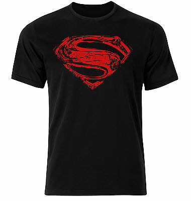 Superman Chest Logo T-shirt Hope Symbol Black T-shirt All Sizes S-5XL