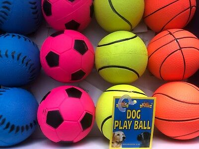 "Dog Neon Play Balls 2.6"" x 12 Fluorescent Floating Balls"