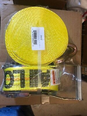 LIFT-ALL Tie Down Strap,Ratchet,Poly,27 ft., 26422, Yellow