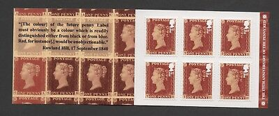 Gb 2016 The 175 Th Anniversary Of The Penny Red Stamp Boolet