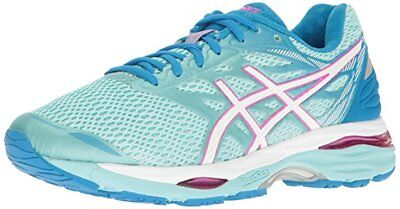 Asics Gel Cumulus 18 Womens Running Shoes size 12 D WIDE NEW AQUA WHITE PINK