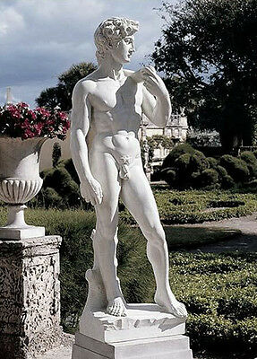 "58"" Large David Garden Statue Sculpture by Michelangelo Replica Reproduction"