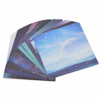 Scrapbooking Origami Paper Art Background Universe Planet Moon Paper Card M O8B1