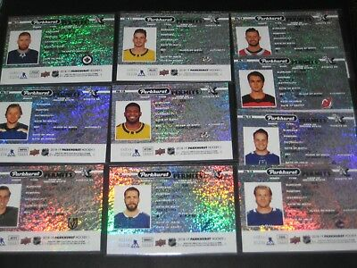 2018/19 Upper Deck Parkhurst PARKHURST PERMITS insert card  *pick from list*