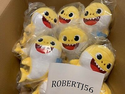 100% Authentic Pinkfong Yellow Baby Singing Shark By Wowwee US Song Version