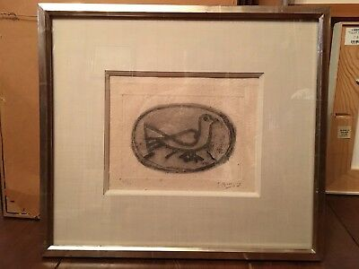 Georges Braque. Oiseau I, 1950. Edition of 20, Vallier 51. Signed Etching Print