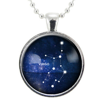 Virgo Zodiac Necklace, Constellation Jewelry, Astrology Star Sign Pendant